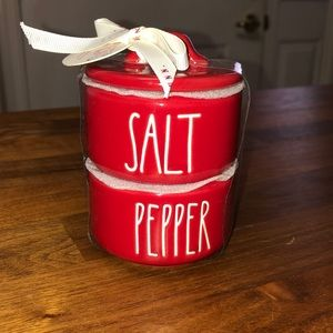 Rae Dunn Red Salt &Pepper containers